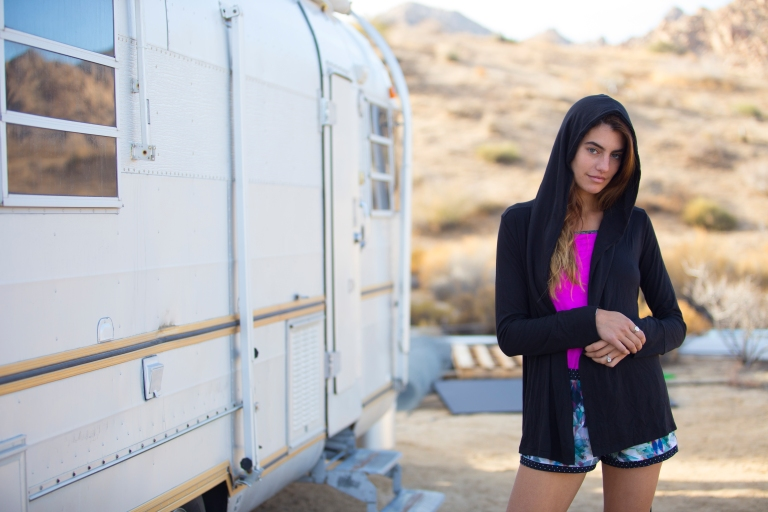 The Elina Hoodie_Black_The Picoli Short_Prismatic_Lifestyle